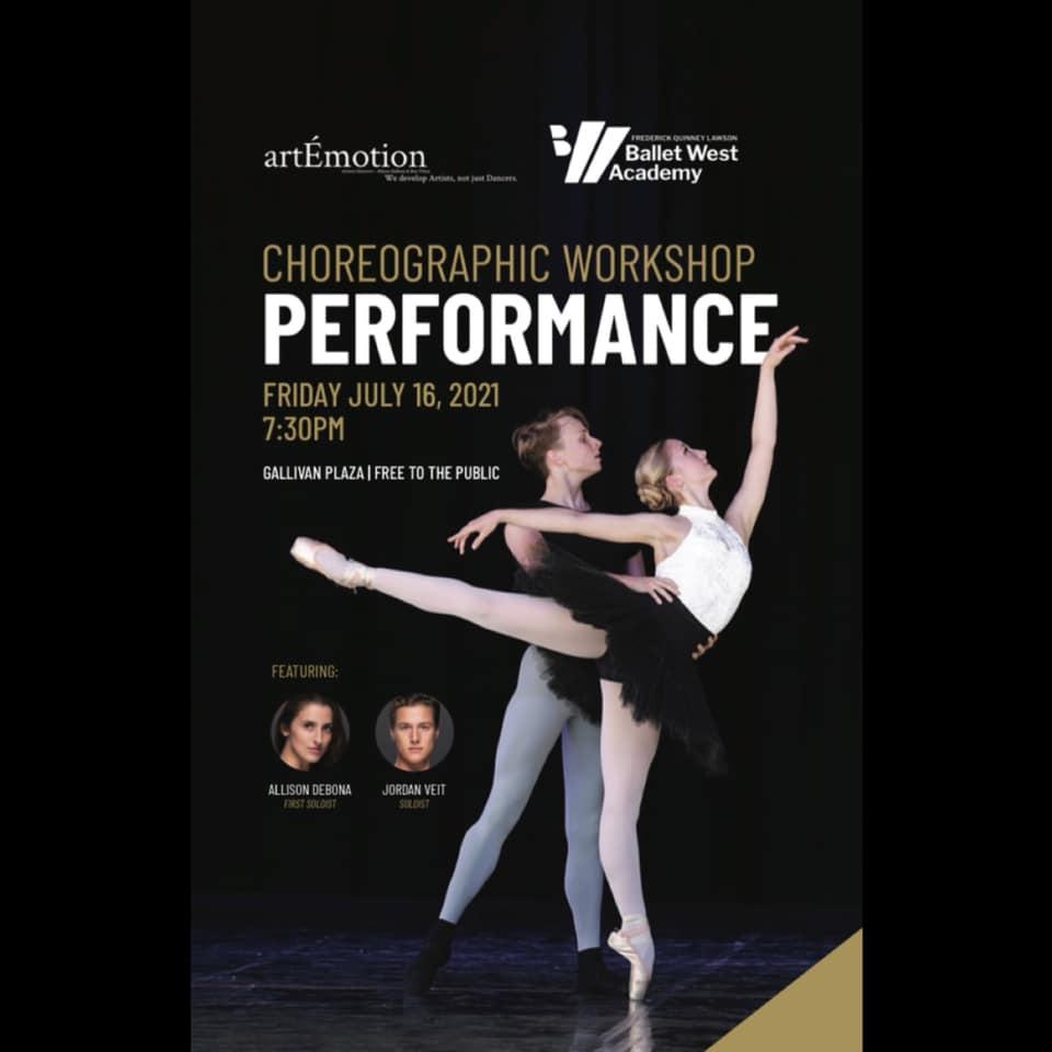 artEmotion & Ballet West Choreographic Workshop Performance